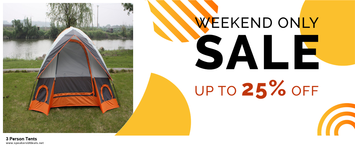 Top 5 Black Friday and Cyber Monday 3 Person Tents Deals 2020 Buy Now