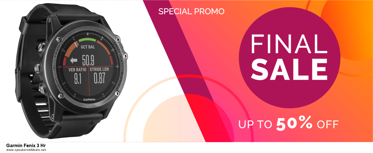 Grab 10 Best Black Friday and Cyber Monday Garmin Fenix 3 Hr Deals & Sales