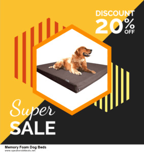 List of 10 Best Black Friday and Cyber Monday Memory Foam Dog Beds Deals 2020
