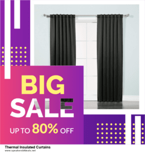 9 Best Thermal Insulated Curtains Black Friday 2020 and Cyber Monday Deals Sales