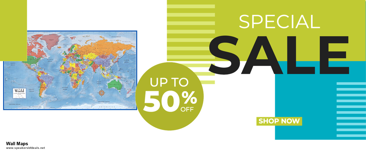 10 Best Black Friday 2020 and Cyber Monday Wall Maps Deals | 40% OFF