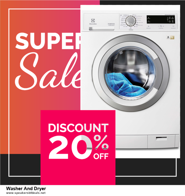 List of 10 Best Black Friday and Cyber Monday Washer And Dryer Deals 2020